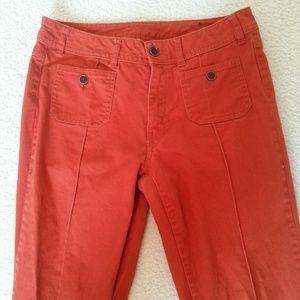 Burnt orange jeans. Size 8 or 40 (See description)